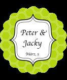 Klebe-Etiketten rund Frame 44 mm grün