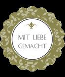 Klebe-Etiketten rund Polka Floral 44 mm grün