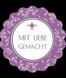 Klebe-Etiketten rund  Floral 44 mm lavendel