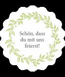 Klebe-Etiketten rund Laurel 44 mm grün