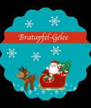 Klebe-Etiketten rund Santa 44 mm türkis