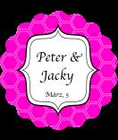 Klebe-Etiketten rund Frame 44 mm pink