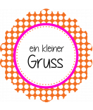 Klebe-Etiketten rund Polka Dots 44 mm orange