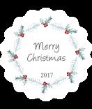 Klebe-Etiketten rund Rustic Christmas 44 mm weiss
