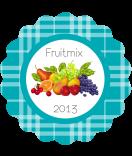 Klebe-Etketten Sweet Fruits rund Multifrucht grau 44 mm