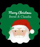 Klebe-Etiketten rund Santa 44 mm grün
