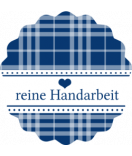 Klebe-Etiketten rund Country Living blau 44 mm