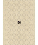 5 Bogen A4 Kraftpapier Etiketten rund braun 30 mm