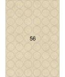 10 Bogen A4 Kraftpapier Etiketten rund braun 30 mm