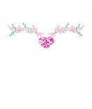 24 Motiv Aufkleber Herz Filigree pink 44 x 39 mm
