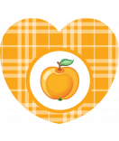 Aufkleber Herz Sweet Fruits Apfel 44 x 39 mm