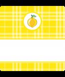15 Aufkleber Sweet Fruits Zitrone 50 x 50 mm gelb