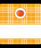 15 Aufkleber Sweet Fruits Melone 50 x 50 mm orange
