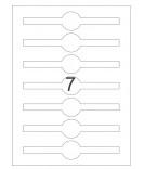 25 Bogen A4 Etiketten Verschlussetiketten, Frischesiegel 170 x 35 mm