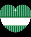 24 Hangtags Vintage Stripes grün Herz 44 x 39,2 mm
