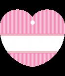 24 Hangtags Vintage Stripes rosa Herz 44 x 39,2 mm
