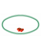 10 Aufkleber für Gläser oval mit Tomate Motiv 80 x 45 mm