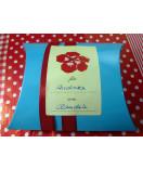 Kissenschachtel türkis mit Geschenk-Aufkleber 55 x 85 mm