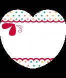 24 Aufkleber Herz Spring 44 x 39 mm