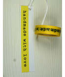 Masking Tape Handmade with love gelb