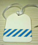 Masking Tape, Washi Tape Gestreift blau 15 mm x 10 m