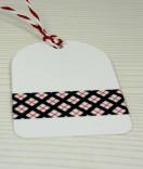 Masking Tape, Washi Tape kariert schwarz, rot, weiß 15 mm x 10 m