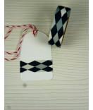 Masking Tape, Washi Tape kariert, karo grau 15 mm x 10 m