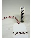Masking Tape, Washi Tape schwarz, weiß Vögel 15 mm x 10 m