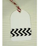 Masking Tape, Washi Tape Chevron schwarz, weiß 15 mm x 10 m