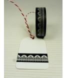 Masking Tape, Washi Tape Bordüre, Borte, Lace schwarz 15 mm x 10 m