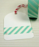 Masking Tape, Washi Tape Gestreift mint15 mm x 10 m