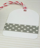 Masking Tape, Washi Tape Punkte grau 15 mm x 10 m