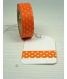Masking Tape, Washi Tape Punkte orange 15 mm x 10 m