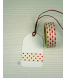 Masking Tape, Washi Tape Polka Dots rot 15 mm x 10 m