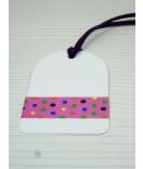 Masking Tape, Washi Tape Polka Dots pink-bunt 15 mm x 10 m