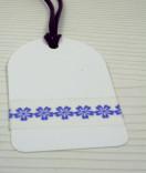 Masking Tape, Washi Tape Bordüre, Borte, Blume lila 15 mm x 10 m
