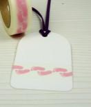 Masking Tape, Washi Tape footsteps rosa 15 mm x 10 m