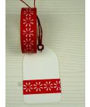 Masking Tape, Washi Tape Bordüre, Borte,  Blume rot 15 mm x 10 m