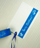 Masking Tape, Washi Tape Weihnachten blau Merry Christmas 15 mm x 10 m