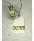 Masking Tape, Washi Tape Weihnachten gold Schneemann 15 mm x 10 m