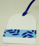 Masking Tape, Washi Tape Blumen blau 15 mm x 10 m