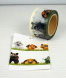 Masking Tape, Washi Tape Hunde und katzen 30 mm x 10 m
