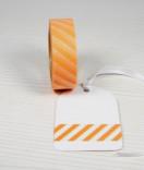 Masking Tape, Washi Tape Streifen Apricot 15 mm x 10 m