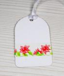 Masking Tape, Washi Tape Blumen Lilie Rot  15 mm x 10 m