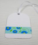 Masking Tape, Washi Tape Blumen Blau-Mint  15 mm x 10 m