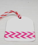 Masking Tape, Washi Tape Chevron Pink 15 mm x 10 m