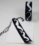 Masking Tape, Washi Tape Schnurrbart Weiss 15 mm x 10 m