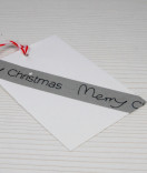 Masking Tape, Washi Tape Merry Christmas Grau 15 mm x 10 m