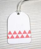 Masking Tape, Washi Tape Dreiecke Rosa 15 mm x 10 m