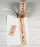 Masking Tape, Washi Tape Handmade With Love Pink 15 mm x 10 m